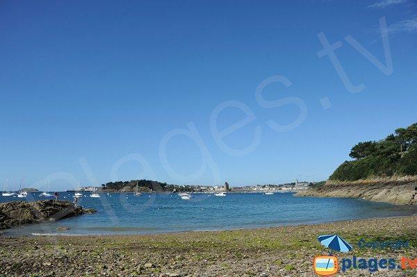 Saint Malo from the Vicomte beach in Dinard
