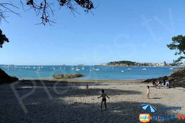 Photo de la crique de la Vicomté à Dinard
