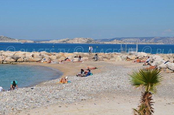 Plage de la Vieille Chapelle à côté de la plage de Bonneveine à Marseille