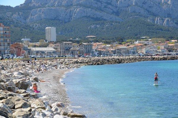 Plage de la Vieille Chapelle pour les sports nautiques à Marseille
