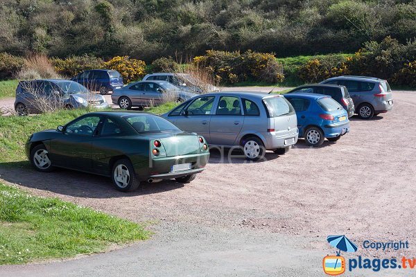 Parking of Vieille Eglise beach