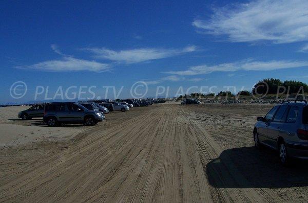 Parking de la plage nord de Port la Nouvelle