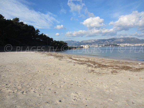 Vieille beach in Saint Mandrier in France