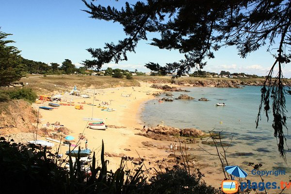 Vieilles beach in IIe d'Yeu in France
