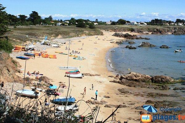 Photo de la plage des Vieilles sur l'ile d'Yeu