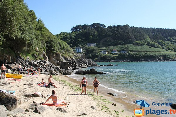 Photo de la plage de la Vierge au Yaudet