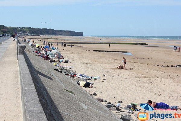 Omaha Beach in Vierville sur Mer in Normandy in France