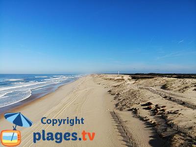 Plage du Vieux Boucau avec les dunes