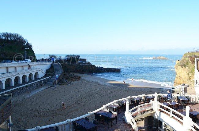 Plage du Vieux Port de Biarritz à Noël