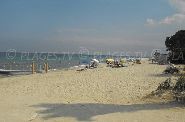Photo de la plage de la Vignale de Ghisonaccia en Corse