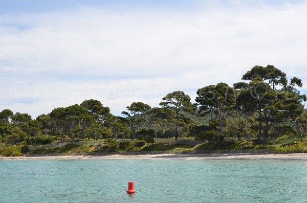 Vignasse beach in Bormes les Mimosas in France