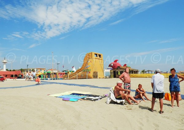 giochi per bambini - spiaggia di Port Barcarès - Village Central