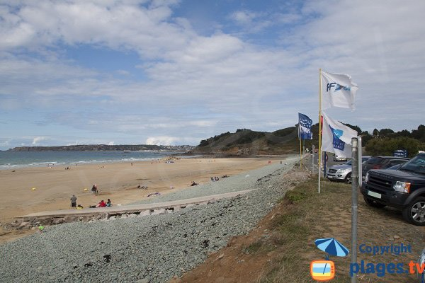 Ville Berneuf beach in Pléneuf Val André - Brittany