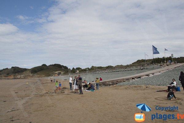 Accès à la plage de Ville Berneuf