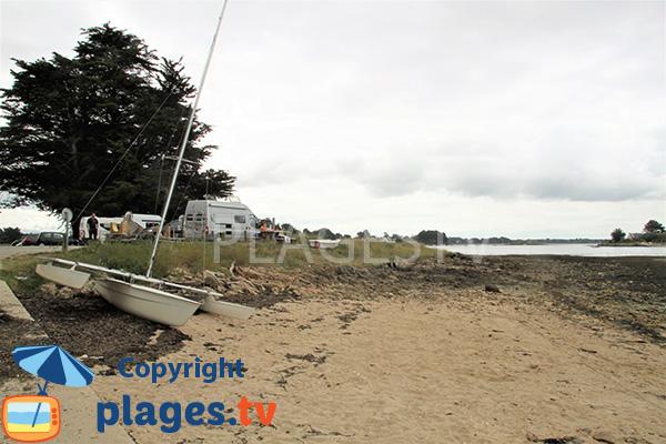 Côté sud de la plage de Villeneuve - Séné
