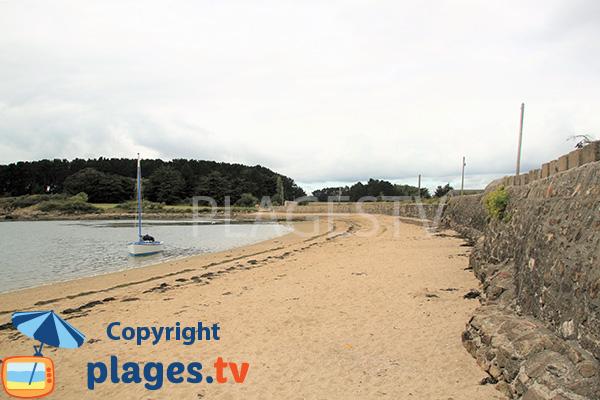 Photo de la plage de la Villeneuve à Séné
