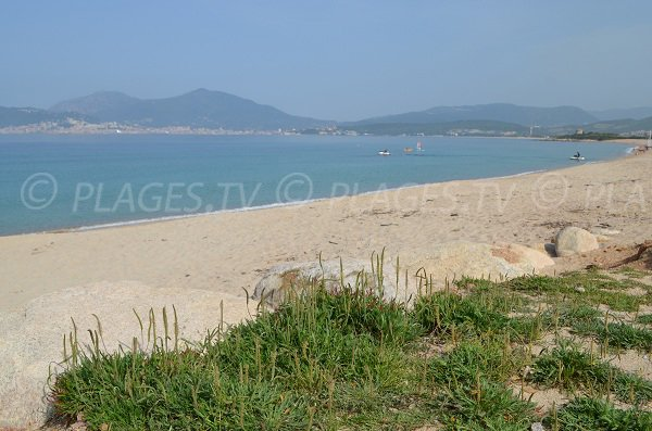 Photo of Porticcio beach and view on the Ajaccio Gulf