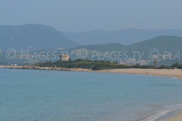 Tower of Capitello and Porticcio beach