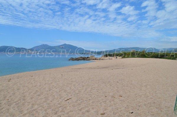Beach near the Capitello tower in Porticcio - Corsica