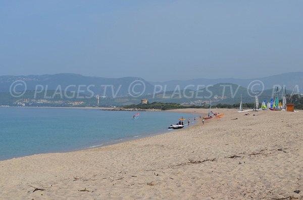 Viva beach in Porticcio in Corsica