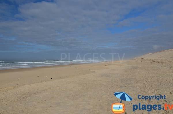 Photo de la plage du Vivier à Biscarrosse