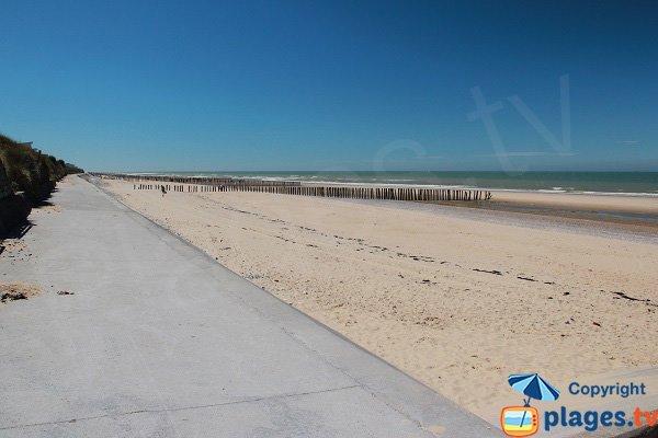 Plage de sable entre Sangatte et Blériot