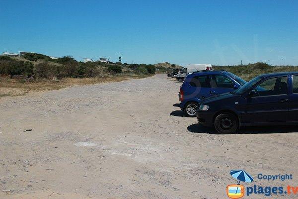 Parking de la plage des Voiliers à Sangatte