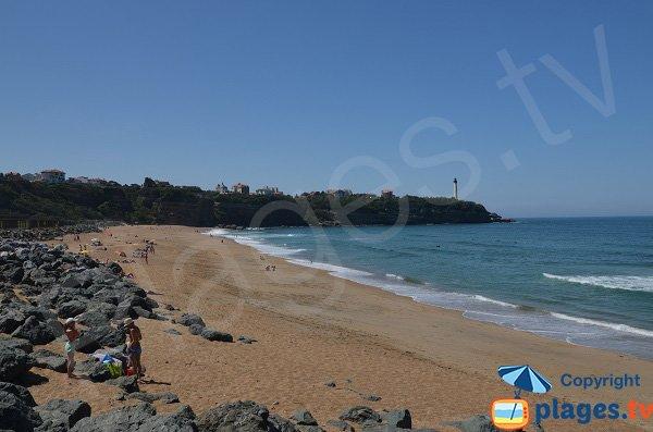 Spiaggia Anglet nei pressi della scogliera San Martin - faro di Capo