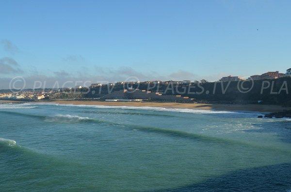 Veduta panoramica della spiaggia del VVF ad Anglet