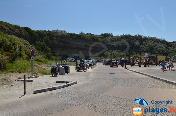 parcheggio della spiaggia VVF a Anglet