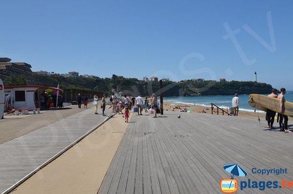 Lungomare a Anglet e spiaggia del VVF