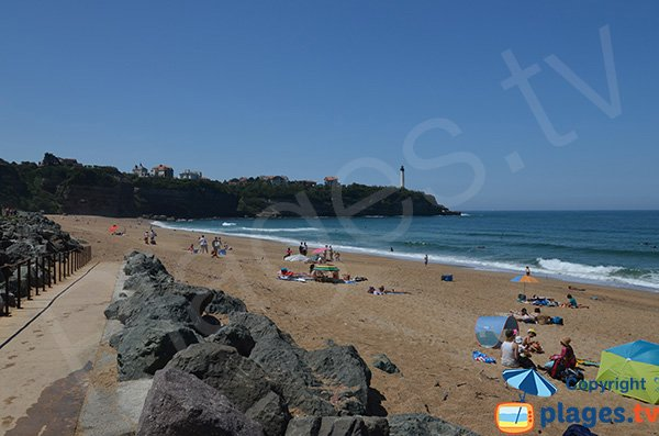VVF beach in Anglet in France