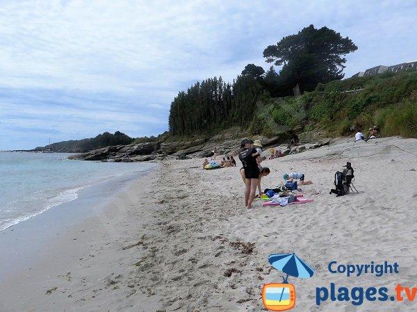 Plage avec du sable fin sur l'ile de Groix