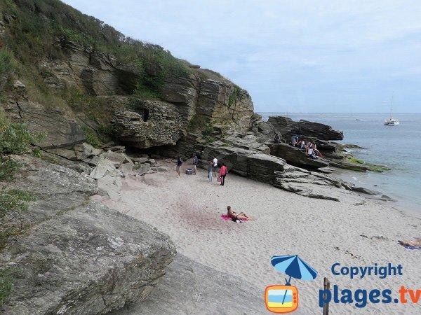Bunker sur l'ile de Groix - plage du VVF