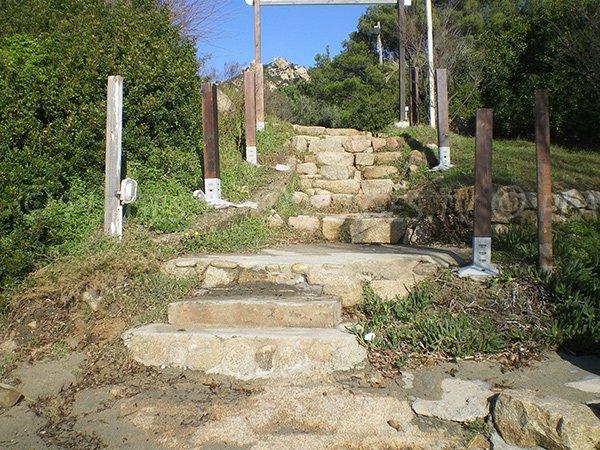 Escalier pour accéder à la plage Week-End