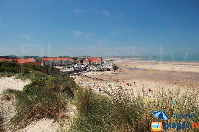 Wissant et sa plage vue depuis les dunes