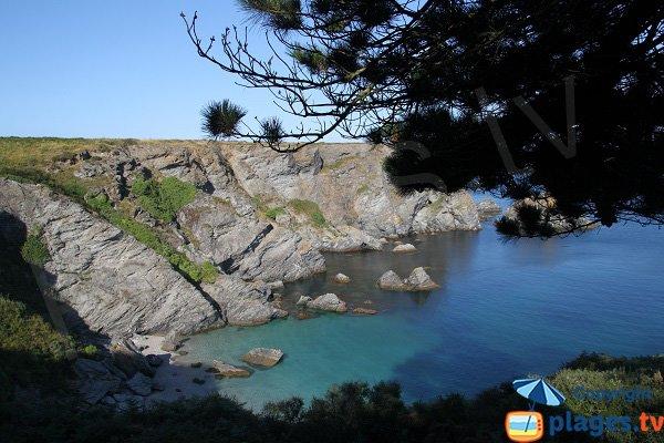 Confidential cove in Belle Ile en Mer