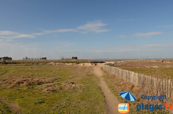 Access to the beach of Yves in Charente Maritime
