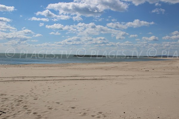 Public beach in Palavas les Flots near to Maguelone