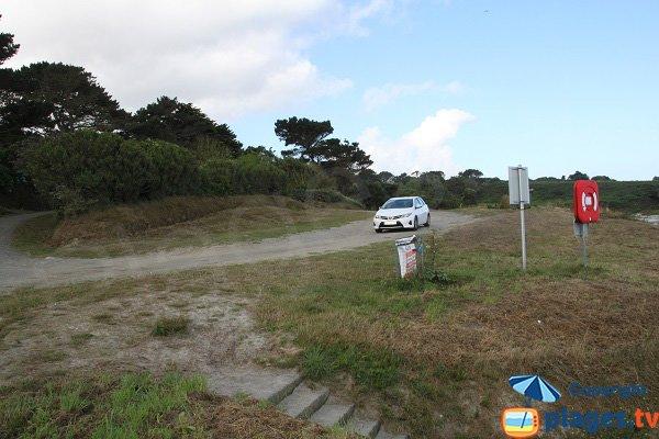 Parking de la plage du Zorn à Plouguerneau