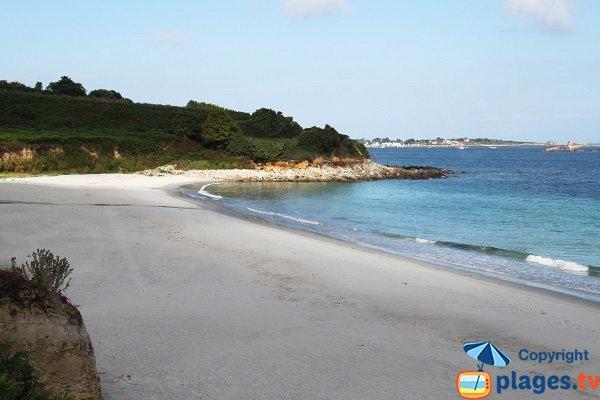 Photo de la plage du Zorn à Plouguerneau - Finistère Nord