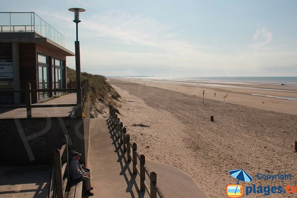 Zuydcoote beach in north of France