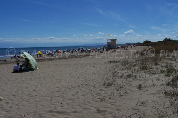 Lifeguard station of cabanes de Fleury - France