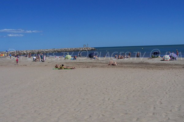 Beach of Cabanes de Fleury d'Aude - France