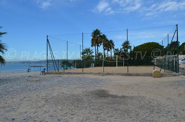 Terrain de Beach Volley sur la plage de St Laurent du Var