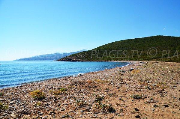 Plage en face des iles de Finocchiarola en Corse