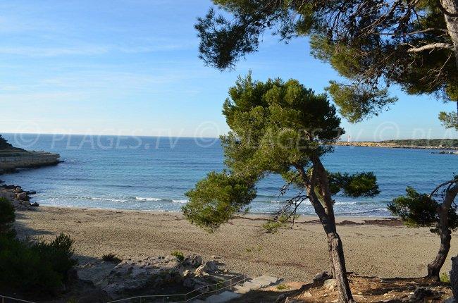 Plage à Martigues où se déroule Camping Paradis