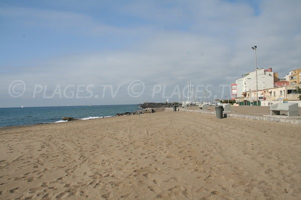 Beach and port of Cape d'Agde