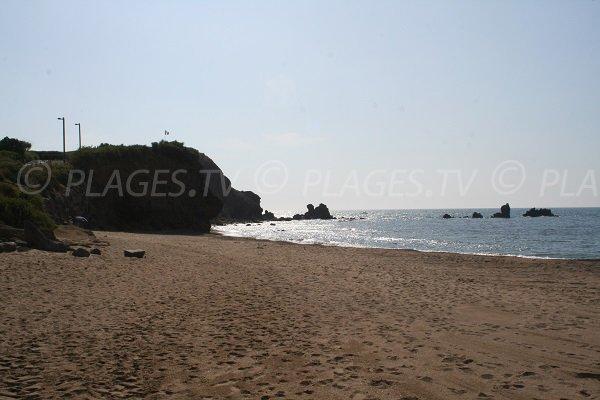 Falaises sur la plagette du Cap d'Agde