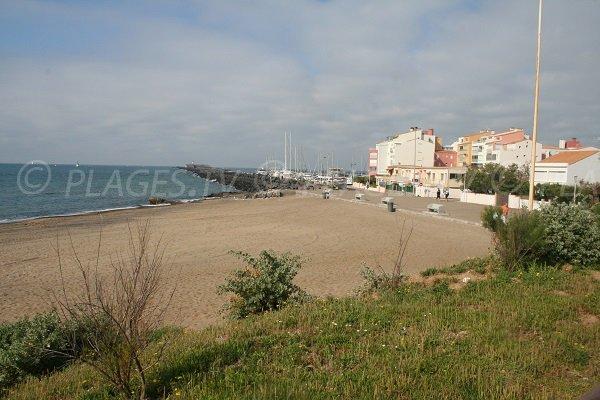 Plagette beach in winter in Cape d'Agde